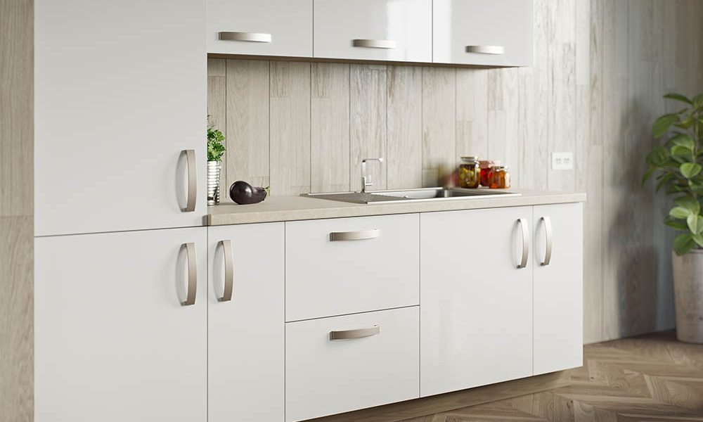 Piso High Gloss White Cameo